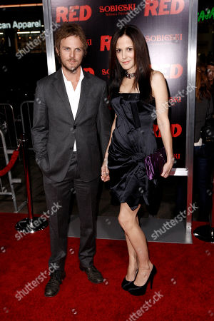 "Charlie Mars, Mary-Louise Parker Cast member Mary-Louise Parker, right, and Charlie Mars arrive at a special screening of the film ""Red"" in Los Angeles"