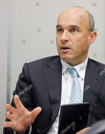 Jim Balsillie, RIM Shows Jim Balsillie, co-CEO of Research in Motion Ltd., speaks during an interview at The Associated Press in New York