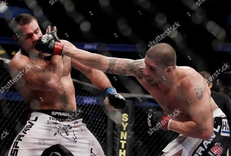 Gabriel Gonzaga, Brendan Schaub Gabriel Gonzaga, left, of Brazil, takes a right from Brendan Schaub during a UFC mixed martial arts match in Anaheim, Calif., . Schaub won by unanimous decision