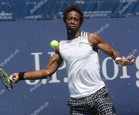Gael Monfils Gael Monfils of France returns the ball to Robert Kendrick of the United States during the first round of the U.S. Open tennis tournament in New York, . Monfils won the match 3-6, 6-3, 6-4, 6-7(5), 6-4