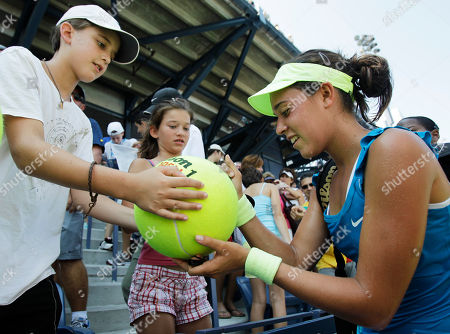 Beatrice Capra Beatrice Capra of the United States signs autographs for fans after upsetting Aravane Rezai of France at the U.S. Open tennis tournament in New York, . Capra beat Rezai 7-5, 2-6, 6-3