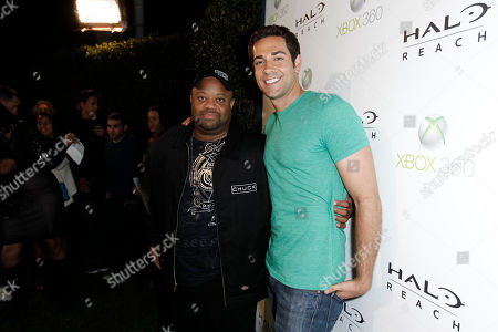 Mark Christopher Lawrence, Zachary Levi Mark Christopher Lawrence, left, and Zachary Levi arrive at the Halo: Reach launch party celebrated by Xbox 360 held at Rob Dyrdek's Fantasy Factory in Los Angeles on