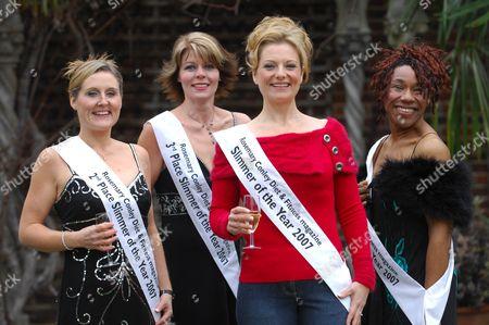 (L-R), Adelle Smith, Alison Graham, Nicki Forster and May Lewin. Nicki Forster is announced Slimmer of the Year 2007. Nikki lost 9st 9lb to become a svelte size 10-12 after a lifetime of obesity. Runners up were Adelle Smith who lost 9st 6lb, Alison Graham, who lost 10st 1lb and May Lewin who lost 8st 10lb.