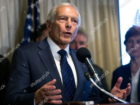 Retired Army Gen. Wesley Clark speaks during a news conference with retired military officers who are supporting Democratic Presidential candidate Hillary Clinton, in Washington