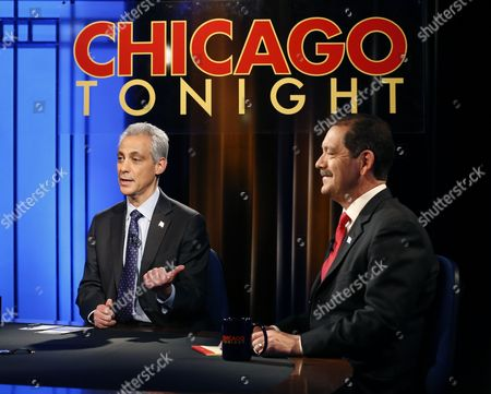 "Rahm Emanuel, Jesus Garcia Chicago Mayor Rahm Emanuel, left, and challenger, Cook County Commissioner Jesus ""Chuy"" Garcia, appear during a televised mayoral debate in Chicago. Emanuel's predecessor, Richard M. Daley, barely broke a sweat during most of his campaigns over more than 20 years in office. But Emanuel failed to win a majority in a five-candidate field in February, prompting the first mayoral runoff since Chicago switched to nonpartisan elections two decades ago. With a runoff election between Emanuel and Garcia set for, Chicago voters are being treated to something they haven't seen in a long time: a mayor actually having to work to win re-election"