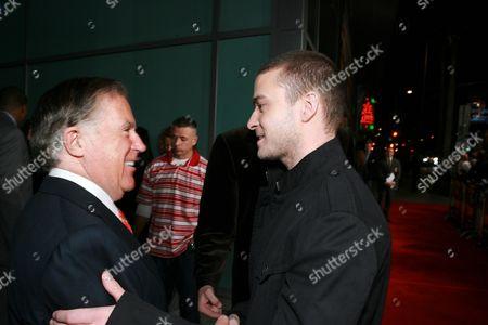 Producer Sidney Kimmel and Justin Timberlake
