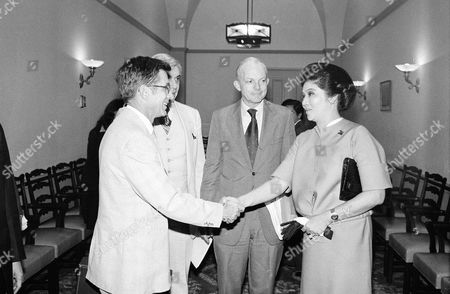 Imelda Marcos, Berkeley Bedell, Leo Ryan, John Sieberling First Lady Imelda Marcos, right, greets, from left, Rep. Berkeley Bedell, D-Iowa, Rep. Leo Ryan, D-Calif., and Rep. John Sieberling, D-Ohio, on at a Capitol Hill meeting in Washington during which the wife of Philippine President Ferdinand Marcos answered questions about human rights condition in the Philippines. Most of the fifteen members of congress who attended the meeting signed a letter drafted by Bedell is April which protested the way the government conducted the last election
