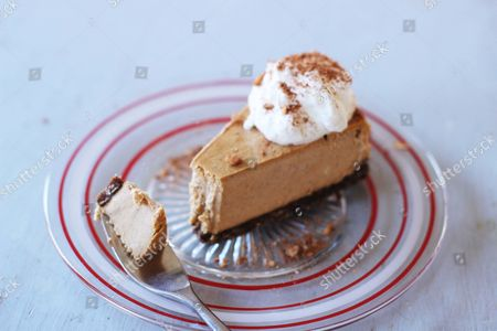 LIFESTYLES Warm pumpkin bourbon cheesecake in Concord, N.H. This dessert is from a recipe by Sara Moulton