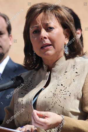Stock Picture of Susanna Martinez New Mexico Gov. Susana Martinez speaks in Santa Fe, N.M. Martinez, Nevada Gov. Brian Sandoval and Florida Sen. Marc Rubio are popular, political newcomers who toe a safe party line in presidential battleground states. The rising GOP stars are also Hispanics, a fact the Republican Party clearly hopes to capitalize on in the upcoming national elections