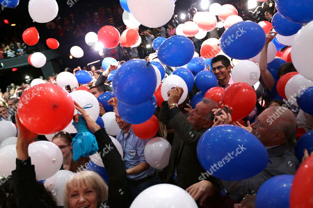 Greg Abbott, Election Supporters cheer as balloons fall after Texas Attorney General and Republican candidate for governor Greg Abbott's victory speech, in Austin, Texas. Abbott defeated Democrat Wendy Davis to win the race for Texas governor