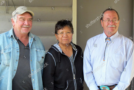Pete Calhoun, Patricia Bergie, Gary Collins This photo shows three of the five American Indian plaintiffs, from left, Pete Calhoun, Patricia Bergie and Gary Collins standing outside their lawyers' office in Lander, Wyo. Since 2005, the Mountain States Legal Foundation of Lakewood, Colo., has represented Fremont County pro bono against five Indian plaintiffs who claim that at-large elections for county commissioners violated the Voting Rights Act by diluting the Indian vote