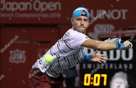James Duckworth James Duckworth, of Australia, returns a shot against Juan Monaco, of Argentina during their singles match at the Japan Open men's tennis tournament in Tokyo