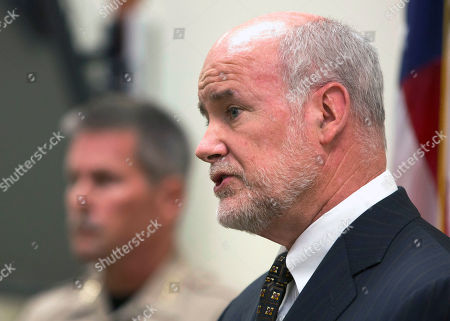 Steven Durfor, Patrick McGrath Yuba County District Attorney Patrick McGrath, discusses the arrests made related to the 1973 killings of two California girls, at a news conference, in Marysville, Calif. Larry Don Patterson, 65, of Oklahoma, and William Lloyd Harbour, 65, of Olivehurst, Calif., were taken into custody, Tuesday, as suspects in the slayings of Valerie Janice Lane, 12, and Doris Karen Derryberry, 13, in Yuba County. At left, is Yuba County Sheriff Steven Durfor