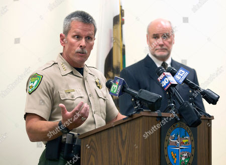 Steven Durfor, Patrick McGrath Yuba County Sheriff Steven Durfor, left, discusses the arrests made related to the 1973 killings of two California girls, at a news conference, in Marysville, Calif. Larry Don Patterson, 65, of Oklahoma, and William Lloyd Harbour, 65, of Olivehurst, Calif., were taken into custody, Tuesday, as suspects in the slayings of Valerie Janice Lane, 12, and Doris Karen Derryberry, 13, in Yuba County. At right is Yuba County District Attorney Patrick McGrath