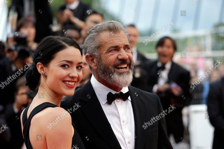 Actor Mel Gibson, right and Rosalind Ross pose for photographers upon arrival at the awards ceremony at the 69th international film festival in Cannes, southern France. 's publicist confirmed, that Ross is pregnant with the actor-director's ninth child. Gibson has seven children with his ex-wife, Robyn, and a 6-year-old daughter with his ex-girlfriend, musician Oksana Grigorieva
