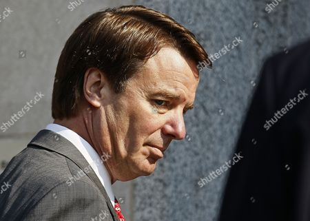 FILE - In this Friday, March 25, 2012 file photo, former U.S. presidential candidate and Sen. John Edwards arrives at a federal court for the sixth day of jury deliberations in Greensboro, N.C..