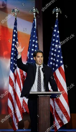 Stock Picture of Craig Romney Craig Romney son of Republican presidential candidate and former Massachusetts Gov. Mitt Romney speaks during Mitt's election night rally, in Boston