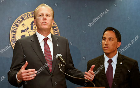 Kevin Faulconer, Todd Gloria San Diego mayor-elect Kevin Faulconer, left, and interim mayor Todd Gloria hold a news conference, in San Diego. Faulconer won the city's special election Tuesday to replace former mayor Bob Filner who resigned. Kevin Faulconer, 47, said Wednesday that his emphasis on working across party lines and his embrace of fiscal measures such as cutting pensions for city workers and putting more city services up for private bidding led to his surprisingly large margin of victory