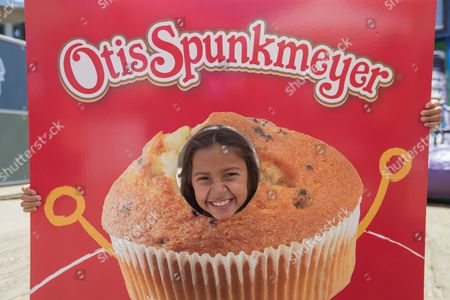 IMAGE DISTRIBUTED FOR OTIS SPUNKMEYER - Otis Spunkmeyer, a beloved sweets brand since 1977, launches a brand new line of individually wrapped sweet treats with a lively celebration at the Santa Monica Pier over Fourth of July Weekend, on Saturday, July 2, 2016, in Santa Monica, Calif. At the July 2nd, 2016 launch event, the new snacks were distributed to thousands of people while attendees enjoyed an obstacle course, ball pit and activities.
