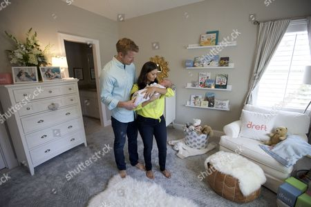 In this image released, popular reality TV couple and new parents Sean and Catherine Lowe revealed son Samuel's chic nursery at their new home in Dallas, Texas. The couple, who has partnered with Dreft, the No. 1 pediatrician and dermatologist recommended laundry detergent brand for baby's clothes, will be sharing exclusive content and messy memories from their first year of parenthood on @Dreft's social channels. Visit Dreft.com or follow @Dreft on Facebook, Twitter and Instagram for more information