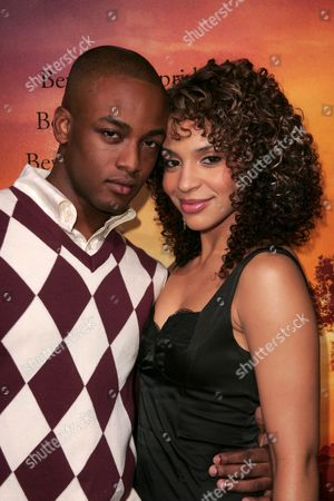 Stock Photo of Collins Pennie and Erica Dickerson