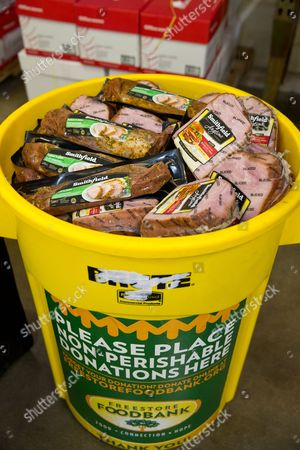 IMAGE DISTRIBUTED FOR SMITHFIELD - A portion of the 25,000-pound protein donation provided by Smithfield's Helping Hungry Homes initiative, in partnership with Kroger and Richard Petty Motorsports, was unloaded at the Freestore Foodbank on July 7, 2016 in Cincinnati.