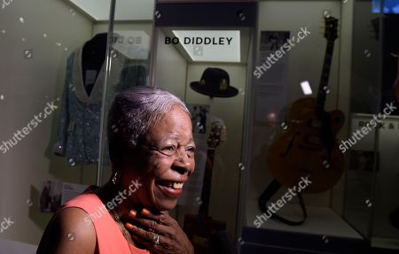 Gloria Jolivet Gloria Jolivet, a niece-in-law to Bo Diddley, stops to look at the exhibited space dedicated to Bo Diddley at the National Museum of African American History and Culture in Washington