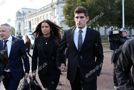Editorial image of Ched Evans rape retrial, Cardiff Crown Court, Wales, UK - 14 Oct 2016
