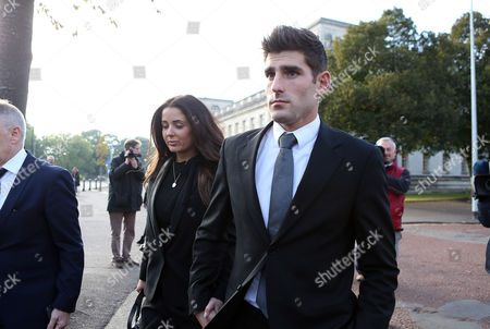 Editorial picture of Ched Evans rape retrial, Cardiff Crown Court, Wales, UK - 14 Oct 2016