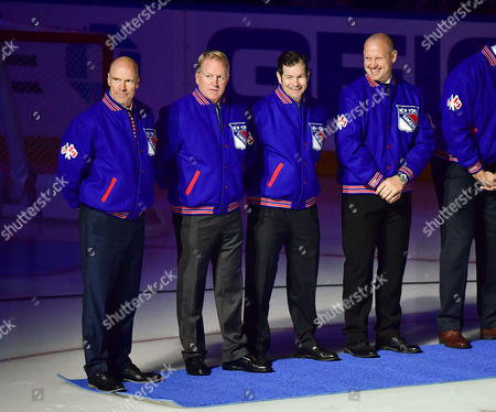 Mark Messier, Brian Leetch, Mike Richter and Adam Graves