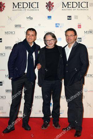 The producer Luca Bernabei, the creator Frank Spotnitz, the director Sergio Mimica Gezzan