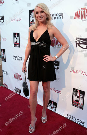 """Alana Curry Cast member Alana Curry poses at the screening of """"2001 Maniacs: Field of Screams"""" in Los Angeles"""