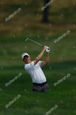 Derek Lamely during the Aronimink Golf Club Pro-Am at the AT&T National golf tournament, in Newtown Square, Pa