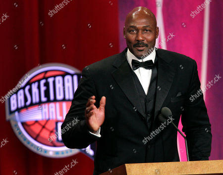 Karl Malone 2010 Basketball Hall of Fame inductee Karl Malone speaks during his enshrinement ceremony in Springfield, Mass