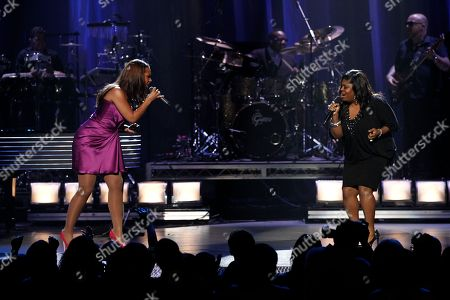 Alicia Keys, Kim Burrell Alicia Keys, left, and Kim Burrell perform at the BET Awards on in Los Angeles