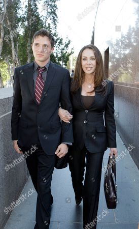 Stock Picture of Jennifer Gold, David Leroy Bren Jennifer Gold and her son David Leroy Bren, whose father is billionaire developer Donald Bren, at Los Angeles Superior Court