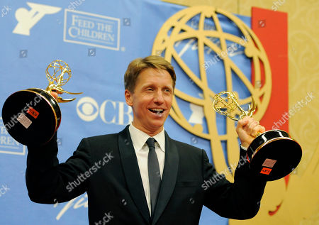 """Brad Bell Brad Bell, head writer of """"The Bold and the Beautiful,"""" celebrates backstage after the show won Outstanding Drama Series Writing Team and Outstanding Drama Series at the Annual Daytime Emmy Awards in Las Vegas"""