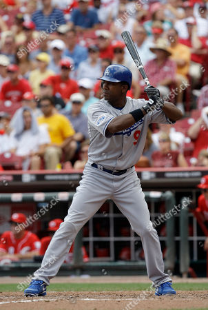 Garret Anderson Los Angeles Dodgers' Garret Anderson in action against the Cincinnati Reds in a baseball game, in Cincinnati