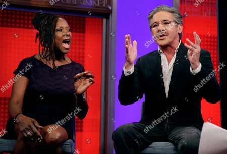 "Robin Quivers, Geraldo Rivera Robin Quivers and Geraldo Rivera debate issues on the ""Fox & friends"" television program in New York"