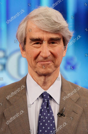 """Sam Waterson Actor Sam Waterston, left, appears on the """"Fox & friends"""" television program in New York"""