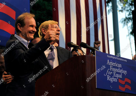 David Boies, Theodore Olson Lawyers David Boies, left, and Theodore Olson, greet the public at a rally on in West Hollywood, Calif. Gay rights supporters turned out in droves to celebrate a federal judge's overturning of California's Proposition 8, a same-sex marriage ban, a landmark case which could eventually land before the U.S. Supreme Court to decide if gays have a constitutional right to marry in America
