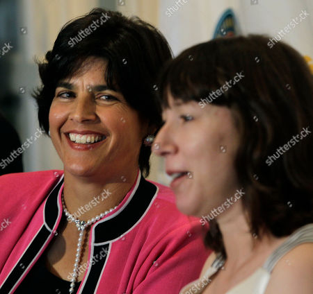 Gigi Fernandez, Natasha Zvereva The tennis doubles team of Gigi Fernandez, left, of Puerto Rico, and Natasha Zvereva of Belarus speak during a news conference prior to being Inducted into the International Tennis Hall of Fame in Newport, R.I
