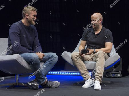 Daniel Ek, CEO and founder, Spotify and Alexander Gustafsson