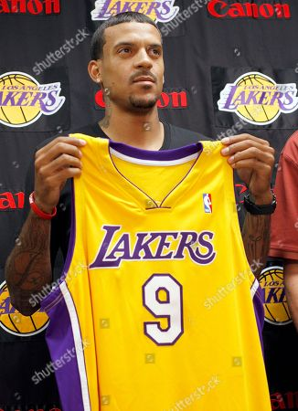Stock Picture of Matt Barnes Matt Barnes holding his new Lakers jersey at an introductory news conference in El Segundo, Calif. Hungry newcomers like Barnes, Steve Blake, and Theo Ratliff have joined emerging scorer Shannon Brown on what's shaping up as the two-time champions' best bench in years