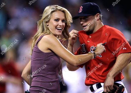 Heidi Watney Boston Red Sox television field reporter Heidi Watney smiles after finishing her interview with Daniel Nava after the team faced the Baltimore Orioles in their baseball game at Fenway Park in Boston