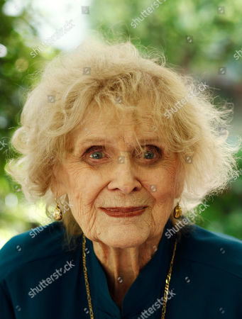 Stock Picture of Gloria Stuart Actress Gloria Stuart poses for a portrait in Los Angeles, . Stuart celebrated her 100th birthday on July 4, 2010