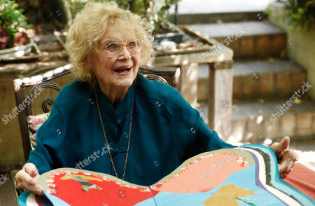 """Stock Photo of Gloria Stuart Actress Gloria Stuart reads from her new book """"Flight of Butterfly"""" in Los Angeles, . Stuart celebrated her 100th birthday on July 4, 2010"""
