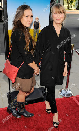 """Sissy Spacek, Madison Fisk Sissy Spacek, right, a cast member in """"Get Low,"""" arrives with her daughter Madison Fisk at the premiere of the film in Beverly Hills, Calif"""