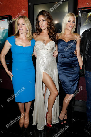 """Elisabeth Shue, Kelly Brook, Riley Steele From left, cast members Elisabeth Shue, Kelly Brook, and Riley Steele pose together at the premiere of """"Piranha 3D"""" in Los Angeles"""