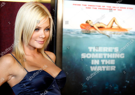 """Riley Steele Cast member Riley Steele arrives at the premiere of """"Piranha 3D"""" in Los Angeles"""